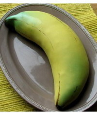 photo  Banana-shaped cake step by step