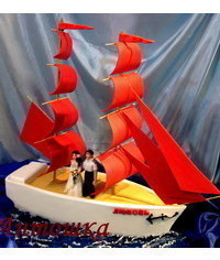 photo  Gumpaste (fondant, polymer clay) sail making tutorial