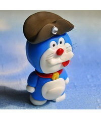 photo Gumpaste (fondant, polymer clay) Doraemon character making tutorial