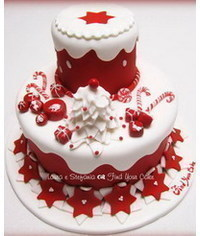 photo  Christmas cake tutorial