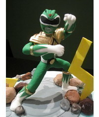 photo  Gumpaste (fondant, polymer clay) Power Rangers figurines tutorials