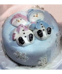 photo  MR & MRS Snowman cake tutorial
