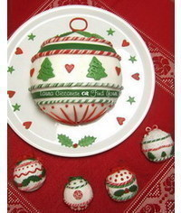 photo Christmas Bauble cake tutorial