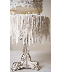 photo How to Make Hanging Icicles on Your Cake