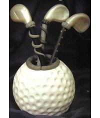 photo Golf clubs and ball making tutorial