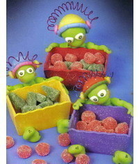photo Gum paste (Polymer clay) Martians step by step