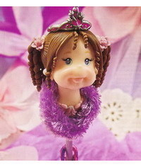 photo  Gumpaste (polymer clay) princess face tutorial