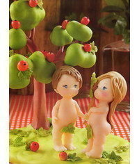 photo  Adam and Eva figurines step by step