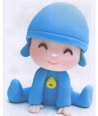 photo  Gum paste (clay)Pocoyo character making tutorial