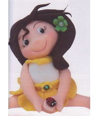 photo How to sculpt gumpaste (fondant, polymer clay) funny girl figurine