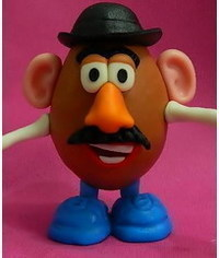 photo Gumpaste (fondant, polymer clay) Mr. Potato Head DIY