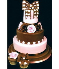 photo Tiered Cakes with bow step by step