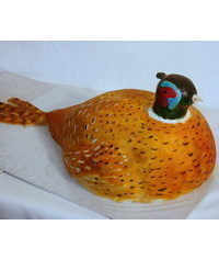 photo  Carved pheasant cake tutorial