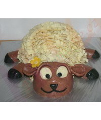 photo Carved Lamb cake tutorial