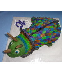 photo  Triceratops cake step by step