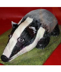 photo Carved 3D Badger cake tutorial