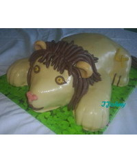 photo   3D Lion cake tutorial
