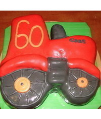 photo 2D Tractor cake tutorial