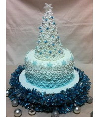 photo  Christmas tree cake tutorial