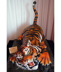 photo 3D Tigr cake tutorial