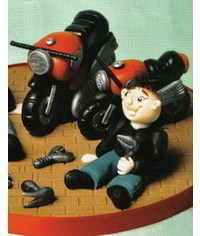 photo Motorcycles and motorcyclists figurines step by step