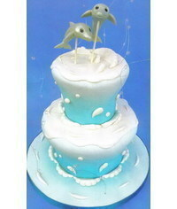 photo Wedding cake with dolphins step by step