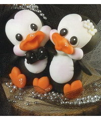 photo Penguin Wedding Cake Topper tutorial