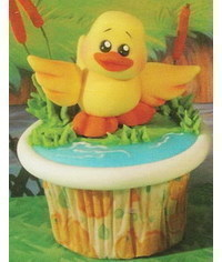 photo  Duck On The Lake cupcake tutorial