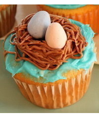 photo Bird's Nest Cupcakes Tutorial