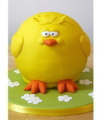 photo  How to make an Easter chick cake