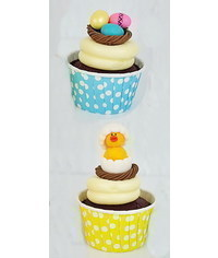 photo How to make Easter egg nests and chick