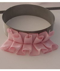photo  Gum paste Ruffles step by step