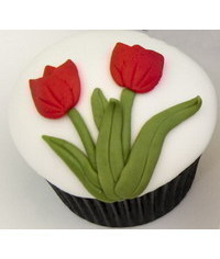 photo  Tulips cupcake tutorial