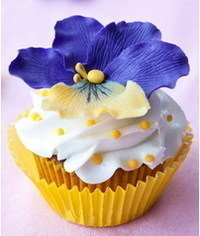 photo  Pansies cupcakes tutorial