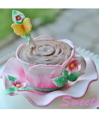photo  Handpaint Cup A Cake Tutorial
