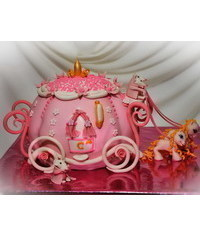 photo  How to Make a Cinderella's carriage Cake