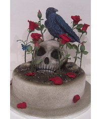 photo  Human skull cake tutorial