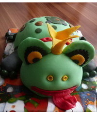photo Frog cake step by step