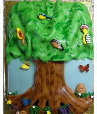 photo  2D Tree cake tutorial
