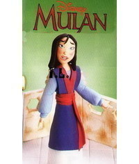 photo  Gumpaste (fondant, polymer clay) Mulan figure making tutorial
