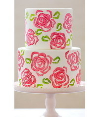 photo  Celery Stamp Rose Cake DIY
