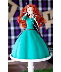photo  Merida (Disney) doll cake tutorial