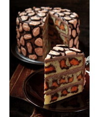 photo Leopard print cake tutorial