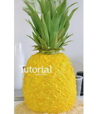 photo  Pineapple shaped cake tutorial