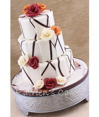 photo How to decorate a tier cake original patterns