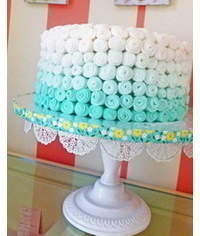 photo  How to decorate sides of cake curls