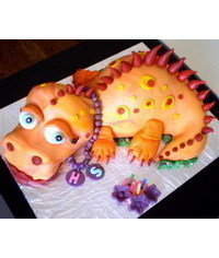 photo  Dinosaur cake tutorial