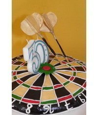 photo  Darts cake topper tutorial