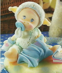 photo baby Infant in sheep dress tutorial