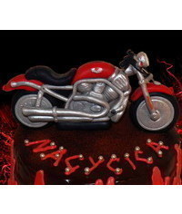 photo Harley Davidson Motorcycle cake topper  step by step